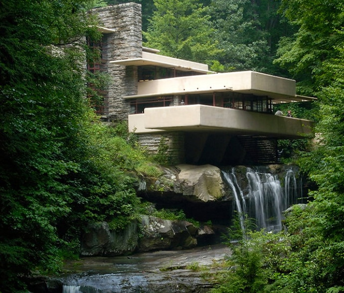 Frank Lloyd Wright's Fallingwater in Quilting Retreats Seams Like Home B&B