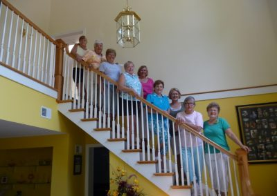 Stairs in Quilting Retreats Seams Like Home B&B