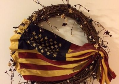 Americana Wreath in Seams Like Home bed and breakfast