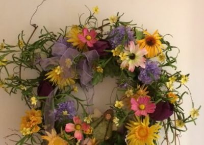Garden Wreath in Seams Like Home bed and breakfast
