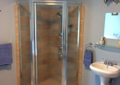 Americana Suite Shower in Seams Like Home bed and breakfast